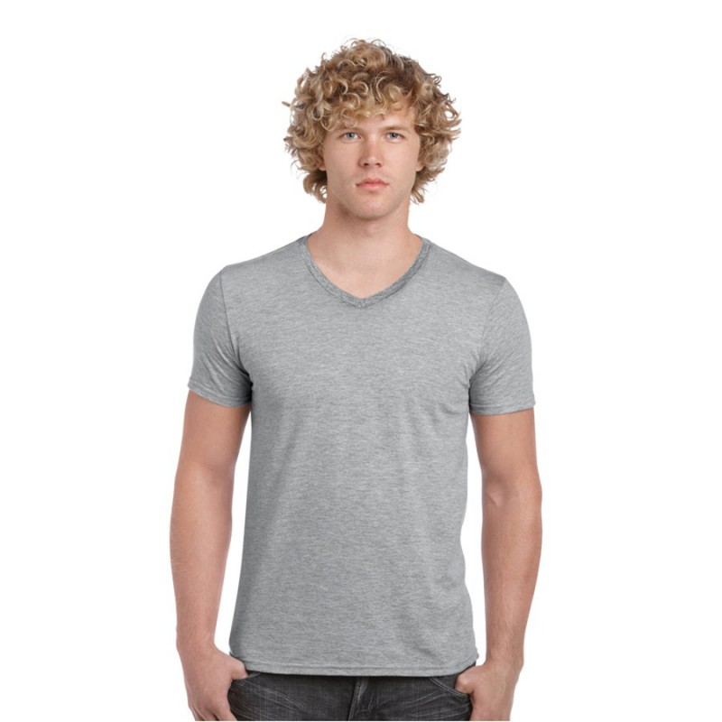 Sofystyle adult v neck t shirt branded promotional men 39 s for Thick v neck t shirts