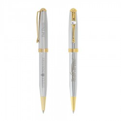 BIC Worthington Chrome Gold Ballpoint - Laser Engrave