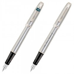 Prelude Matte Chrome & Chrome Trim - Fountain Pen
