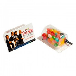 Biz Card Treats with Jelly Beans 50G (Corporate Colours)