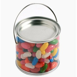 Medium Bucket Filled with Jelly Beans 400G (Corp Coloured or Mixed Coloured Jelly Beans)