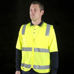 JBs HV (D+N) Zip Safety Vest