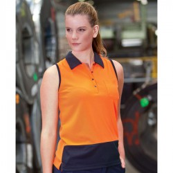 JB's Ladies Hi Vis Sless Polo