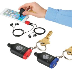 2-in-1 Music Splitter Keychain with Stylus