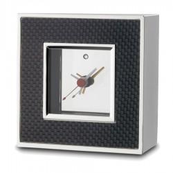 Carbon Fibre Desk Clock With Alarm