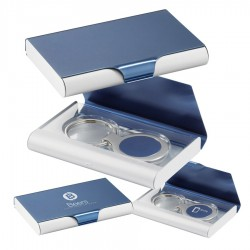 Business Card Holder with Keyring