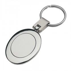 Oval Metal Keyring