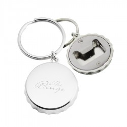 Bottle Cap Shaped Opener Keyring
