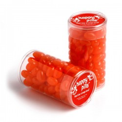 Pet Tube Filled with Jelly Beans 100G (Mixed Colours or Corporate Colours)