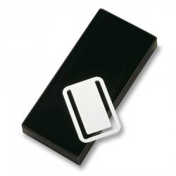 Nickel Plated Bookmark / Money clip