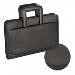San Babila A4 Leather Compendium Satchel