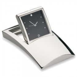 Desk Clock With Tilting Black Face