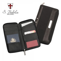 San Babila Leather Travel Wallet