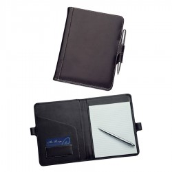 A5 Leather Pad Cover with Pen Closure