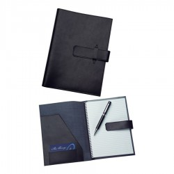 A5 Leather Pad Cover in Black