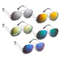 Aviator Sunglasses - Colour Mirror