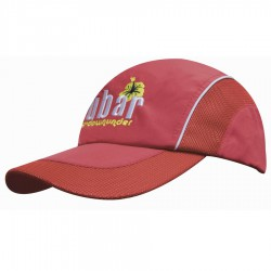 Spring Woven Fabric Cap with Mesh to Side Panels and Peak