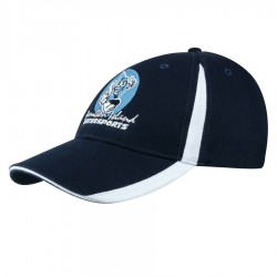 Brushed Heavy Cotton Cap with Inserts on the Peak & Crown