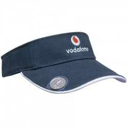 Brushed Heavy Cotton Visor with Magnetic Ball Marker on Peak