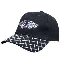 Brushed Heavy Cotton Cap with Checker Plate on Peak