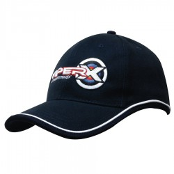 Brushed Heavy Cotton Cap with Piping On Peak & Crown