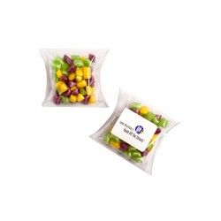 Corporate Coloured Humbugs in Pillow Pack 50G