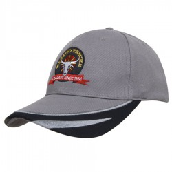 Brushed Heavy Cotton Cap with Peak Trim Embroidered