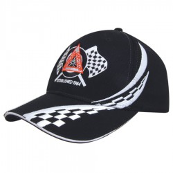 Brushed Heavy Cotton Cap with Swirling Checks & Sandwich
