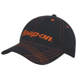 Brushed Heavy Cotton Cap with Contrasting Stitching & Cross Stitched Peak