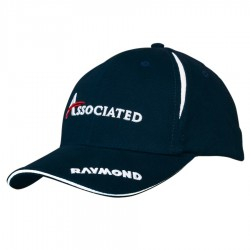 Brushed Heavy Cotton Cap with Crown Inserts & Sandwich