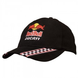 Brushed Heavy Cotton Cap with Racing Ribbon On Peak & Closure