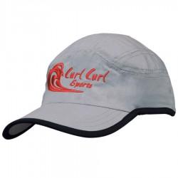 Microfibre Sports Cap with Trim on Edge of Crown & Peak