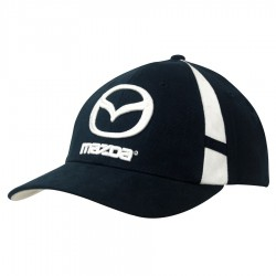 Brushed Heavy Cotton Cap with Crown Inserts & Contrasting Peak Under & Strap