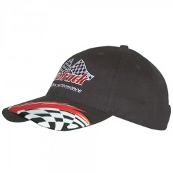 Brushed Cotton Cap with Swoosh & Check Embroidery