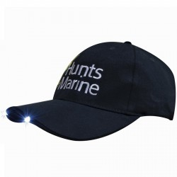 Brushed Heavy Cotton Cap with Led Lights in Peak