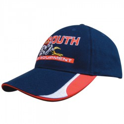 Brushed Heavy Cotton Cap with Peak Inserts and Sandwich