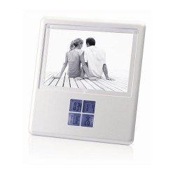 Multifunction LCD Alarm Clock w/Photo Frame