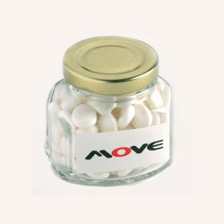 Mints in Glass Squexagonal Jar 90G
