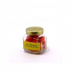 Personalised Rock Candy in Squexagonal Jar 65G