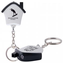 Mini House Flashlight Keytag