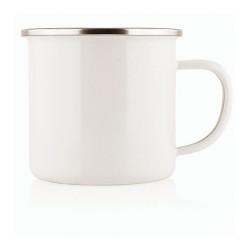 8cm Enamel Cup w/Stainless Rim