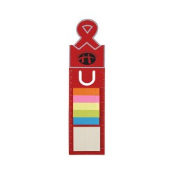 Ribbon Dye Cut Bookmark / Ruler with Noteflags