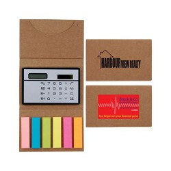 Compact Calculator / Noteflags in Cardboard Cover
