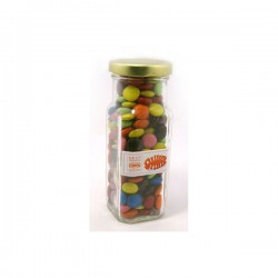Choc Beans in Glass Tall Jar 220G (Corporate Colours)