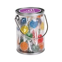 Assorted Colour Lollipops in 1 Litre Drum