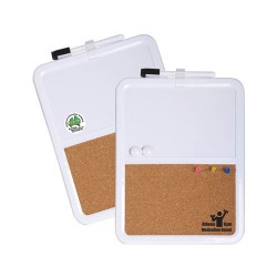 Magnetic Whiteboard / Corkboard With Marker