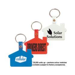 House Shape Soft PVC Keytag
