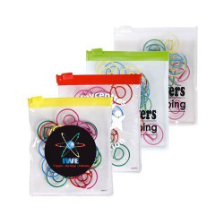 @ Shape Paperclips In PVC Zipper Pouch