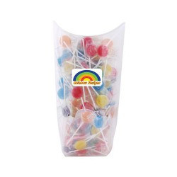 Assorted Colour Lollipops in Confectionery Dispenser