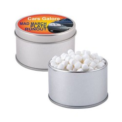 Peppermints in Silver 2 Piece Round Tin